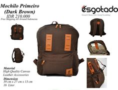 Mochilo Primeiro Dark Brown sms/whatsapp: 082219180163 pin: 7DD85355 (full) BBM CHANNEL: C002012CF LINE: cs.esgotado