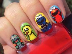 Sesame Street Nails!!!