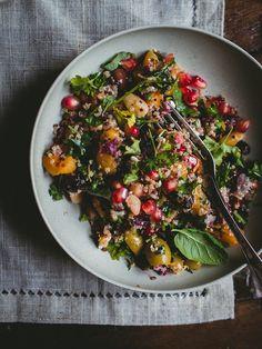 The Kvinoasalaatti (V, GF) – Viimeistä murua myöten Feta, Acai Bowl, Salads, Cooking, Breakfast, Book, Party, Acai Berry Bowl, Kitchen