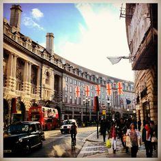 Regent Street, London, England. Our latest London tips: http://www.europealacarte.co.uk/blog/2013/08/09/london-tips/