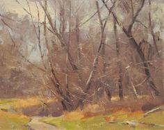 Marc Hanson - Early Spring Woodland, 8x10 pastel