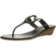 Bernardo Women's Matrix Wedge Patent Dress Sandal (71 CAD) ❤ liked on  Polyvore featuring