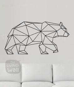 Geometrische Bär Wand-Aufkleber geometrische Tiere von LivingWall