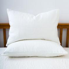 Linen Pillow Cases: White