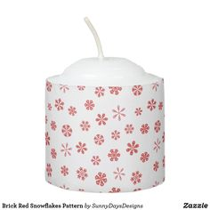 When the sun goes down the lights don't have to go out thanks to Zazzle's Snowflake candles. Shop our great designs for yourself or to give as gifts! Snowflake Pattern, Votive Candles, Snowflakes, Christmas Holidays, Brick, Candle Holders, Lights, Red, Christmas Vacation