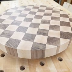 """Happy Sunday! What do you have on your bench today? This 14""""checkerboard block is ready for some oil! . . . #woodworking #diyproject #doityourself #handmade #handcrafted #woodshop #nashvilletn#nashville#craft#artisan#wood#woodisgood#makersgonnamake#madeintn# #wooden#mwawoodworks"""