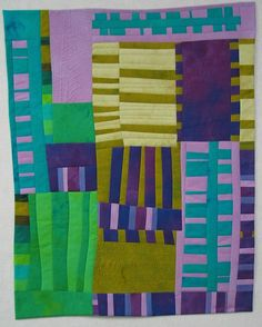 A beautiful piece by Melody Johnson - Hand dyed cottons, fused, machine quilted