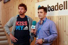 Entrevista a Ernests Gulbis en la carpa de Banco Sabadell en el Barcelona Open Banc Sabadell