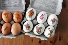 Get Inked! How to Tattoo Your Easter Eggs via Brit + Co.