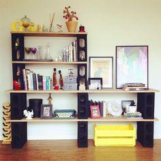 Faça sua estante com blocos - Decoração - Plantas, Flores e Jardins