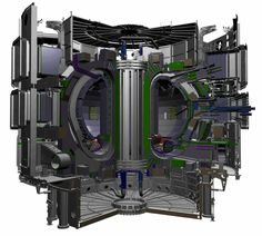 "carbonstuff: "" This is a sketch of the tokamak at ITER. The tokamak is the heart of the International Thermonuclear Experimental Reactor (ITER), a project that seeks to create clean renewable fusion. Science Guy, Science And Technology, Science Fiction, Nuclear Physics, Project Blue Book, Nuclear Energy, Nuclear Power, Energy News, Energy Resources"