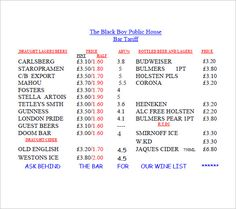 Hairdressing Price List Template  Lists To Add To Get An