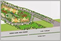 Genesis Projects In Bhiwadi Call 88-00-666-155: genesis skyeon layout plan