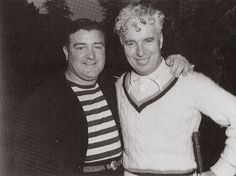 Chaplin with Lou Costello, 1942