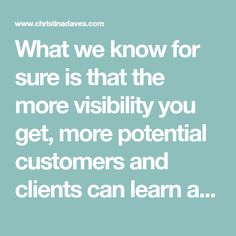What we know for sure is that the more visibility you get, more potential customers and clients can learn about you and that means more business for you and ultimately more revenue and profits. Business Stories, Online Publications, Writing About Yourself, Marketing Plan, Public Relations, New People, To Focus, Writing A Book, Meant To Be