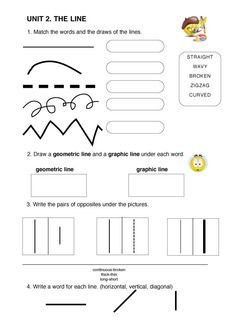 types of line worksheet