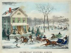Currier and Ives Christmas Printable | and now i present currier and ives