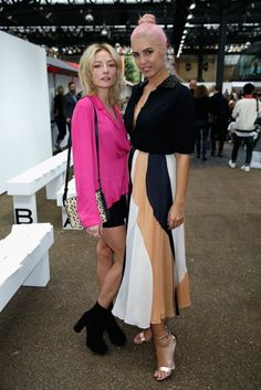 Clara Paget with Amber Le Bon in Roksanda.