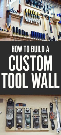 When you've assembled a proper collection of hand tools, the best way to keep them safe, organized, and available within reach is a custom tool wall. Each item gets a designed holder that keeps like pieces together and accessible, allowing you to maximize your storage space.
