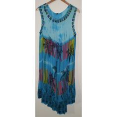 Embroidery Tie Dye Calf Length Hippie Boho Multi Coloured Dress, Free Size Listing in the Dresses,Womens Clothing,Clothes, Shoes, Accessories Category on eBid United Kingdom   145651016