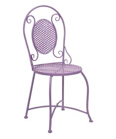 Look at this Purple Yates Iron Bistro Chair on #zulily today!