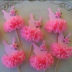 """""""Birthday Decoration Ballerina Tutu Cupcake Toppers Set of 6 for Ballet Party Happy Birthday"""", """"Image detail for -Ballerina Tutu Cupcake Toppers by Je Tutu Cupcakes, Girl Cupcakes, Baby Shower Cupcakes, Birthday Cupcakes, Shower Cake, Ballerina Tutu, Ballet Tutu, Ballerina Baby Showers, Ballerina Birthday Parties"""