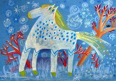 Magráta: Martin na bílém koni Winter Painting, Winter Art, Art Lessons For Kids, Art For Kids, Winter Activities For Kids, Kid Activities, Animal Paintings, Martini, Art Projects