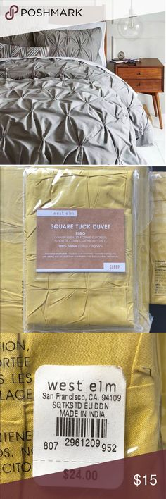NWT West Elm Euro Sham NWT West Elm Euro Sham  - packaging never opened! - subtle mustard color - 100% Cotton - See other listings in my closet for matching NWT Duvet and Sham...bundle!!! West Elm Other