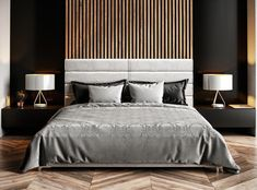 Inspiration for stylish black bedroom decor schemes: All black bedrooms, monochrome and wood decor, red and black bedrooms, black bedroom furniture and bed sets Black Bedroom Design, Black Bedroom Decor, Black Bedroom Furniture, Bedroom Bed Design, Home Bedroom, Black Bedrooms, Gothic Bedroom, Dark Furniture, Office Furniture
