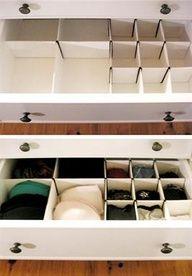 DIY Box Drawer Dividers