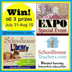 Stop by the blog to enter my giveaway for 10 tickets to the Schoolhouse Expo! #homeschool