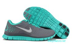 Im DYING! Womens Nike Free 4.0 V2 Cool Grey Reflective Silver Tropical Twist Running Shoes