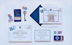 Vintage Airmail Invitation
