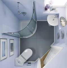 If you have a small bathroom don't worry, we've got plenty of small bathroom ideas for you. No matter how compact your room, we have a chic design to fit your need. Bathroom design Small bathroom ideas – small bathroom decorating ideas on a budget Small Shower Room, Small Space Bathroom, Small Showers, Tiny Bathrooms, Bathroom Design Small, Bathroom Layout, White Bathroom, Modern Bathroom, Bathroom Ideas
