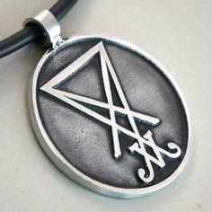 Sigil of Lucifer Seal of Satan Baphomet Laveyan Satanism Sign Pewter Pendant   eBay