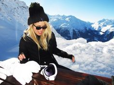 Such a cute ski outfit, and what a beautiful place to ski!!!