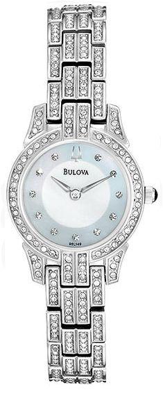 Bulova Stainless Steel Crystal Bezel Links