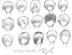 How to Draw Anime Hair for Size:570x700. Anime Boy Hairstyles by *miso-hot3