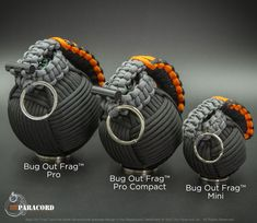 We now have three main bug out frags to choose from the original pro 28 tools 45 paracord the smaller pro compact 25 tools 35 paracord and the mini 20 paracord no integrated kit Paracord Diy, Paracord Braids, Paracord Keychain, Paracord Bracelets, Knot Bracelets, Paracord Tutorial, Paracord Ideas, Survival Bracelets, Surf City Paracord