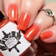I'm a sucker for a good squishy orange polish so @lynbdesigns 'Give the Audience a Grin' stole my heart right away! This is part of the Bright Side Collection based on Monty Pythons The Bright Side of Life. Releasing Friday March 3rd at 7pm EST. The full collection is on my blog at PolishandPaws.com (link in bio.) . . #lynbdesigns #indiepolish #indieswatch #indiepolish411 #prsample