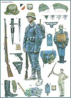 Bild - Weltkriege (World War) - Military Gear, Military Weapons, Military History, Ww2 Uniforms, German Uniforms, Military Uniforms, German Soldiers Ww2, German Army, Modern History