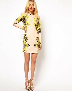 Asos Mirror Floral Dress - Lyst