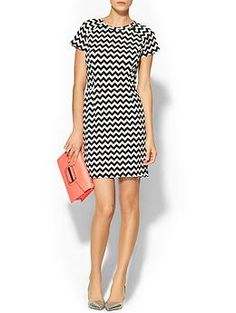 Collective Concepts Chevron Knit Short Sleeve Dress   Piperlime