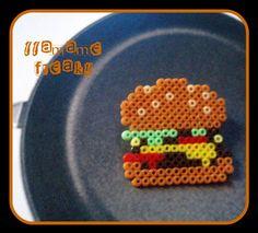 Broche hama mini hamburguesa