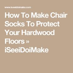 How To Make Chair Socks To Protect Your Hardwood Floors Afghan Crochet Patterns, Knitting Patterns, Crochet Baby, Knit Crochet, Chair Socks, Straw Bale Gardening, Hardwood Floors, Flooring, Straw Bales