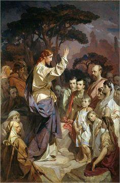 FELIZ NATAL Rororo...  ao grupo Messages for Humanity :).  sermon-the-mountain-Ivan Kuzmich Makarov-1889