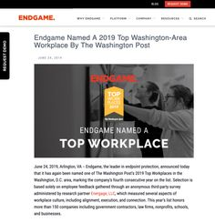 Marketing images are important – even when you're one of the best companies in your field. Endgame is a cyber security company with an upbeat staff that prides itself on being an inclus… Security Companies, The Washington Post, Marketing Materials, Good Company, San Antonio, Workplace, Candid, Cyber, Politics