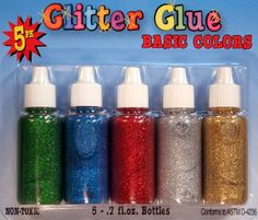 Glitter Glue Set of 5 Basic Colors Sq... (bestseller)