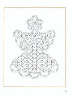 Angeles de bolillos - Marina - Álbumes web de Picasa Bobbin Lace Patterns, Bead Embroidery Patterns, Beaded Embroidery, Lace Art, Craft Images, Crochet Angels, String Art Patterns, Lacemaking, Point Lace