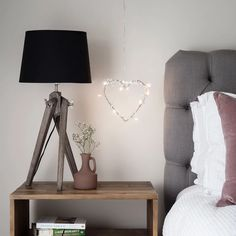 Heart Battery Fairy Light Wreath Add a charming finish to bedrooms or living rooms with this delicat